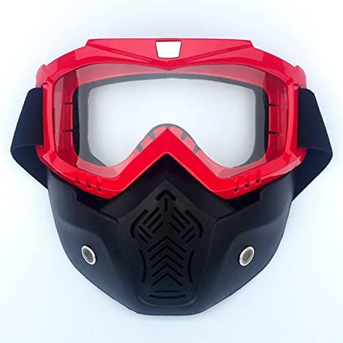 CHQY Gafas de equitación para casco de motocicleta, máscara antivaho desmontable, filtro transpirable, ATV Cross-Country Bike Paintball Anti-Scratch Uv400 Gafas D