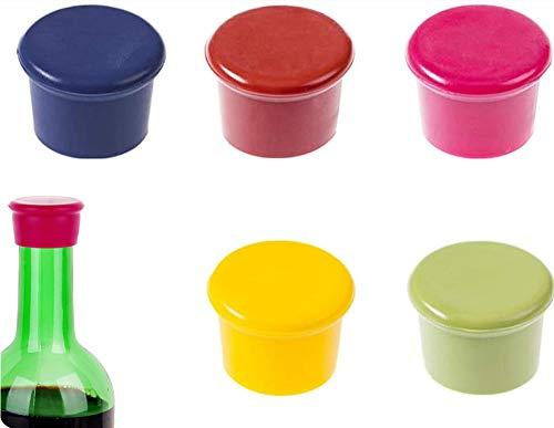 Longsing Tapones de Botella de Vino Silicona Tapones para Botellas 10 Piezas...