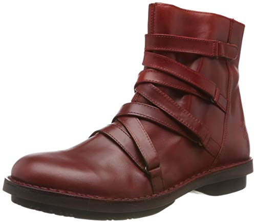 Fly London Damen Felt005fly Kurzschaft Stiefel, Rot 003, 42 EU