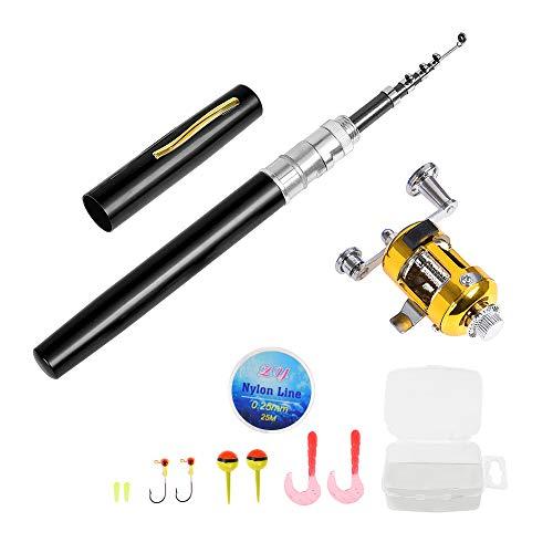 Lixada Fishing Rod and Reel Combo Set Telescopic Pocket Pen Fishing...