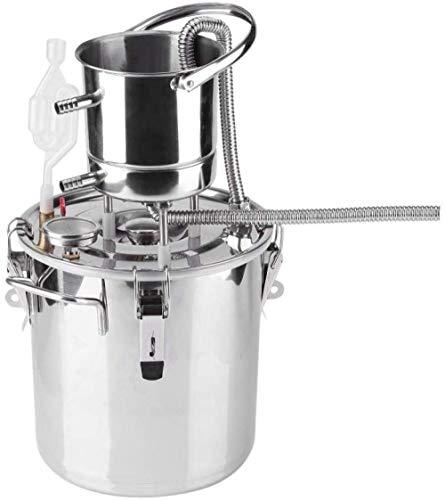 KAIXIN Destilador De Alcohol, 10 litros De Vino Moonshine Still Spirits, Kit De Acero Inoxidable para Preparar Vino para Brandy, Whisky, Brandy De Frutas, Vodka, Aceite Esencial, Agua Pura, Etc.-20l