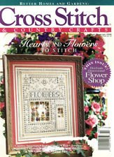 CROSS STITCH AND COUNTRY CRAFTS JANUARY-FEBRUARY 1996 BETTER HOMES AND GARDENS MAGAZINE WITH FLOWERS SAMPLER ON FRONT COVER