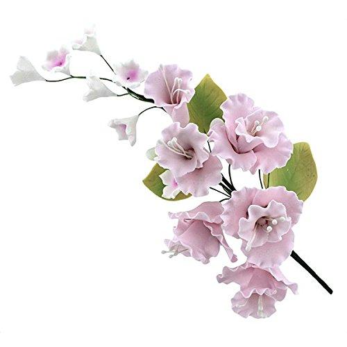 Global Sugar Art Blossom Sugar Cake Flowers Spray Pink, 1 Count by Chef Alan Tetreault