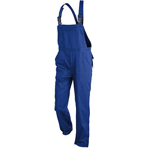 KÜBLER ECO PLUS Arbeitslatzhose blau, Größe 48, Unisex-Arbeitslatzhose aus verstärkter Baumwolle, robuste Arbeitslatzhose von KÜBLER Workwear