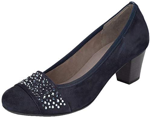 Gabor Damen Pumps, Frauen Elegante Pumps,Best Fitting,Soft & Smart, Court-Shoes Absatzschuhe Abendschuhe stöckelschuhe,Pazifik,42 EU / 8 UK