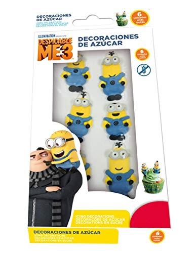 Generique - Minions-Zuckerfiguren 2D Essensdeko blau-gelb 19g Einheitsgröße