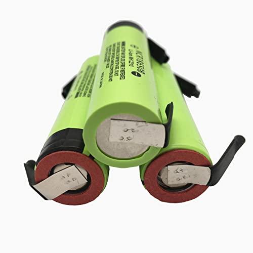RitzyRose 3.7v 3400mah NCR18650B Batería De Iones De Litio De Iones De Litio, Cabeza Plana Recargable para Linterna 8PCS