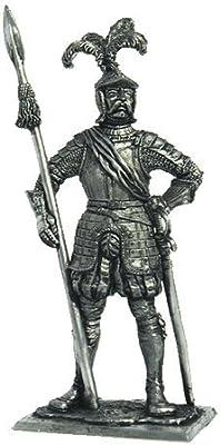 Captain of Landsknecht Tin Toy Soldiers Metal Sculpture Miniature Figure Collection 54mm (Scale 1/32) (M178)