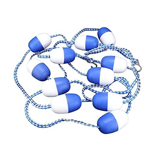 Gogias Equipo de seguridad de buceo, línea de flotador de seguridad de la piscina con ganchos azul y blanco Divisor cuerda Kits Accesorios de piscina