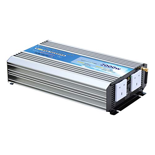 Inversor de Corriente CA de Onda sinusoidal Pura de 2000 W, batería...