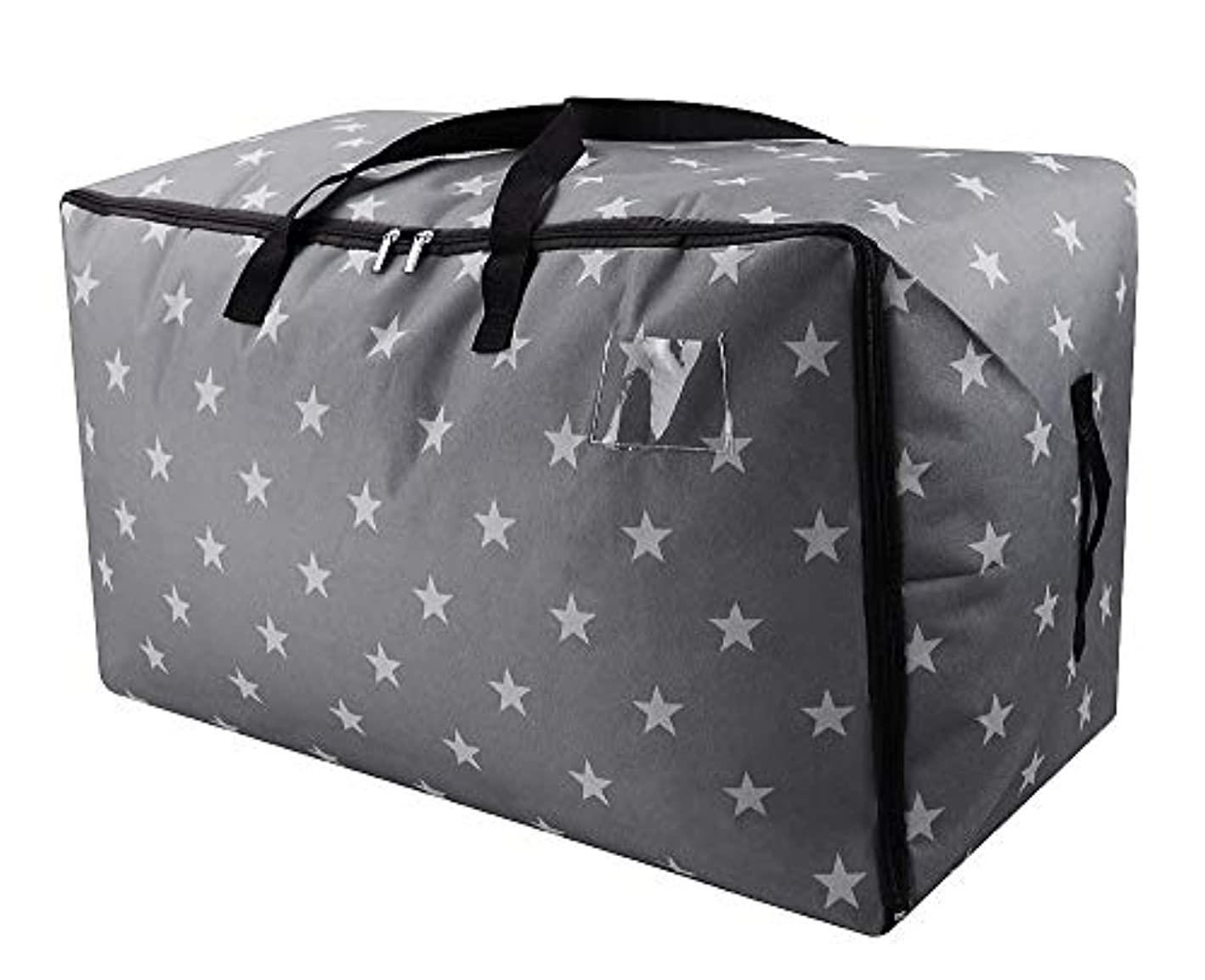 iwill CREATE PRO Extra Large Christmas Tree Ornament Storage Bag, Xmas Storage Containers, Large Traveling Storage Duffle Bags, Gray Stars