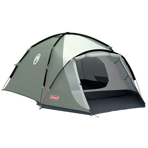 Coleman Rocksprings 4 Zelt, 4 Personen, 4 Mann Zelt, Igluzelt, Festivalzelt, Leichtes Kuppelzelt mit Vorzelt, Wasserdicht WS 2.000 mm