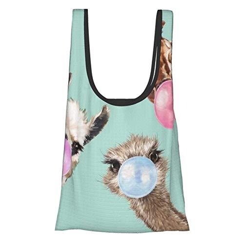 Bubble Gum Gang Theme Convenient, Fashionable, Reusable Environmentally Friendly Shopping Bag.