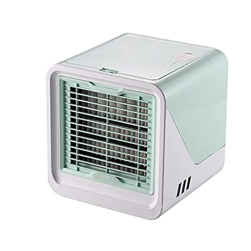 HGJINFANF Condizionatore d'Aria Portatile USB Mini Air Cooler Humidifier Purificatore Desktop Air Cooler Fan Air Air Ventola per L'Ufficio (Color : Green)