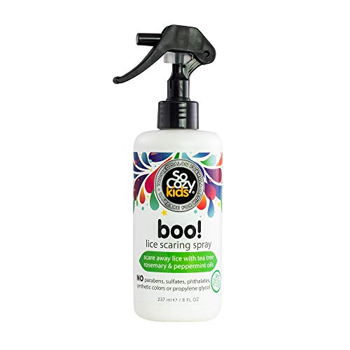 SoCozy Boo! Lice Scaring Spray For Kids Hair | Clinically Proven to Repel Lice | 8 fl oz | No Parabens, Sulfates, Synthetic Colors or Dyes
