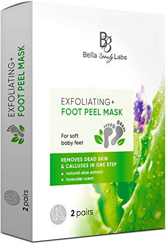 Dr. Entre's Foot Peel Mask | 2 Pairs | Baby Soft Feet in Just 7 Days, Exfoliating Callus Remover, Free Foot Care E-Book Included