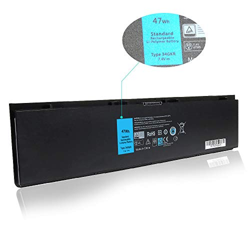 Amanda E7440 47WH 7.4V Battery Replacement for Dell Latitude 14-7000 E7440 E7420 E7450 Ultrabook 7000 3RNFD 34GKR F38HT T19VW PFXCR G0G2M 909H5 451-BBFT 451-BBFV 451-BBFY