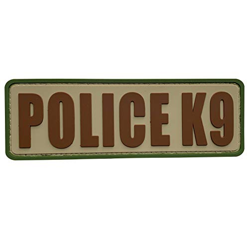 uuKen Camo OCP Police K9 Patch PVC Rubber Tactical 6x2 inch K-9 Patch for Service Dog in Training Working for Dog Harness Collar Vest (Camo, M6'x2')