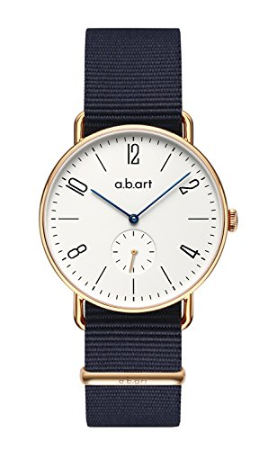 a.b.art FN41-001-5N Roman Numeral Rose Gold Sapphire Crystal Bauhaus Watches for Men Big Gig Watch