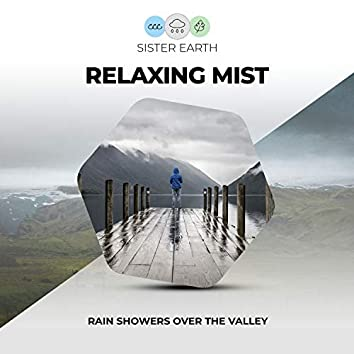 Relaxing Mist: Rain Showers Over the Valley