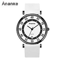 QTMIAO 美しいドレスウォッチ時計 アナンクファッション極薄ウォッチクォーツウォッチ (Color : 3)