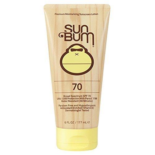 Sun Bum Original Moisturizing Sunscreen SPF 70 Lotion - Broad Spectrum UVA/UVB - Water Resistant & Non-Greasy Protection, Hypoallergenic, Paraben Free, Gluten Free - SPF 70 - 6 oz. Bottle - 1 Count