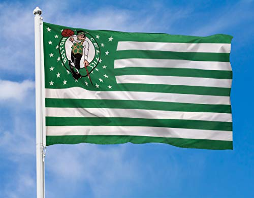 POZOY Sports Flag for Celtics Team Heavyweight 2X Thick Fabric Double Stitched with Brass Grommets