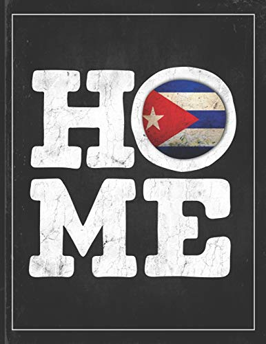 Home: Cuba Flag Planner for Cuban Coworker Friend from Havana  Lightly Lined Pages Daily Journal Diary Notepad