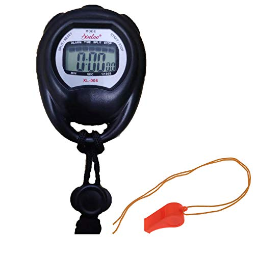 KingL Digital Stopwatch Timer - Interval Timer with Large Display (Stopwatch&Whistle)
