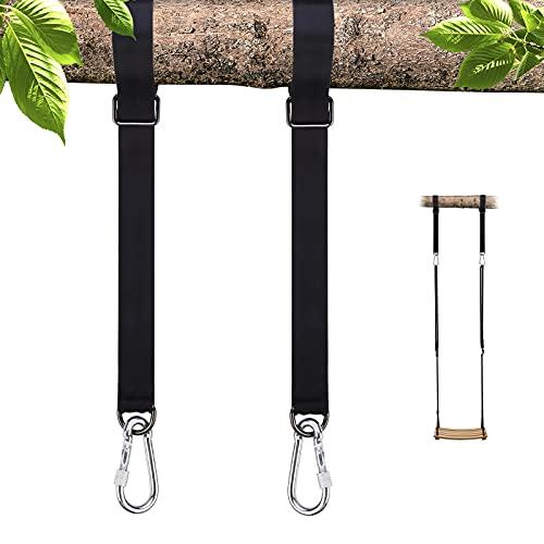 Baumschaukel zum Aufhängen, Hängematten-Gurte, Baumschaukel-Hängematten-Set, perfekte Verbindung zwischen Schaukel und Hängematte, hält bis zu 453,6 kg, 150 cm, 2 Stück