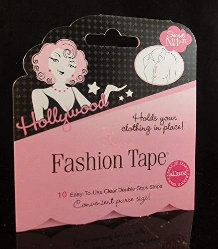 Hollywood Fashion Tape Secret No. 1of37 hält Ihre Kleidung an Ort und Stelle, 10 transparente Doppelklebestreifen.