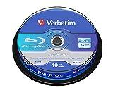 Verbatim BD-R Dual Layer - 50 GB, 6-fache Brenngeschwindigkeit mit Hardcoat Scratch Guard, 10er Pack, Spindel