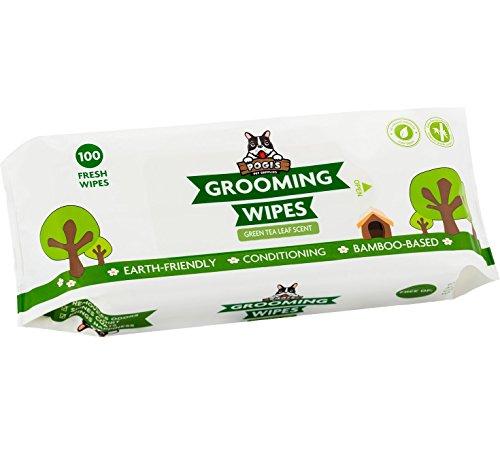 Pogi's Grooming Wipes - Toallitas húmedas - 100 toallitas desodorantes para Perros - Aroma de té Verde, Naturales, Extra Grandes, biodegradables