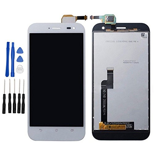 ixuan Asus Zenfone Zoom ZX551ML Z00M Z00XS ZOOXS 修理交換用フロントパネル LCD液晶 画面 タッチパ ディスプレイ 修理工具セット付属(ホワイト)