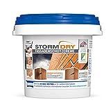 Stormdry Fassadenschutzcreme (3 Liter) - 25 Jahre Fassadenschutz gegen Feuchtigkeit. Die einzige BBA zertifizierte Fassadenhydrophobierung mit Abperleffekt - Fassadenimprägnierung, Steinimprägnierung.