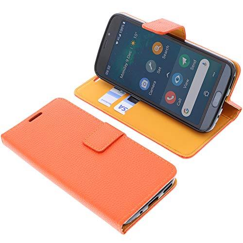 foto-kontor Tasche für Doro 8050/8050 Plus Book Style orange Schutz Hülle Buch