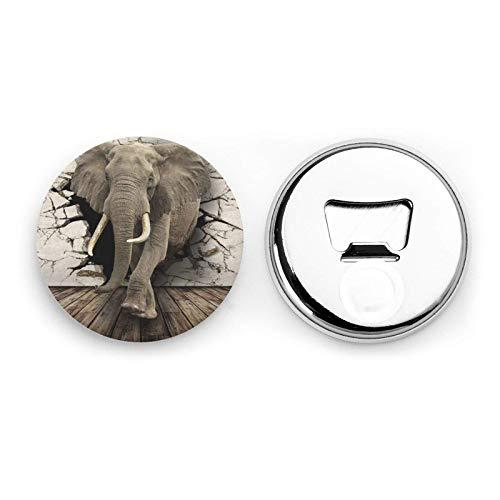 Muro rotto Elefante Magneti da frigorifero Apribottiglie da birra Bottiglia di coca cola Vino Soda Apribottiglie Magnete da cucina Apribottiglie Magnetico 2 pezzi
