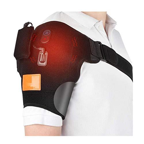 SEGIBUY Beheizte Schulterbandage, Schulterstütze Schulter Unterstützung, USB Elektrische Heizkissen Mit 3 Vibrationsmassage Für Rotatorenmanschette Gefrorene Schulter Schmerzlinderung