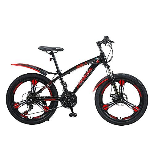 Axdwfd Infantiles Bicicletas Bicicleta de montaña de 20 Pulgadas, Engranajes de 21 velocidades, suspensión de la Horquilla, Bicicleta para niños para niños y niñas, 4 Colores (Color : B)