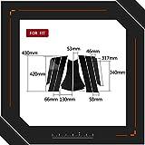 2020 Fibra de Carbono adecuados for Honda Fit Ajuste/Jazz Accesorios de modificación de la Fibra de Carbono Ventana del Pilar B Pilar Vinilo Decorativo Coche Fibra de Carbono del