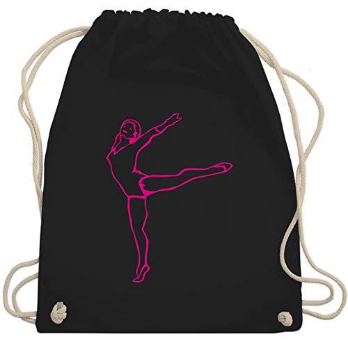 Wellness, Yoga & Co. - Rhythmische Sportgymnastik - Unisize - Schwarz - rhythmische sportgymnastik - WM110 - Turnbeutel und Stoffbeutel aus Baumwolle