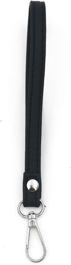 Gergxi Black PU Leather Wristlet Bag Strap Handle Replacement for Handbag Clutch Purse