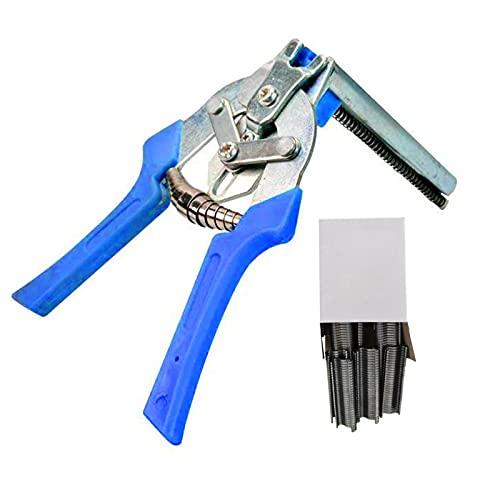 Alicates para anillos de uñas tipo M con clips M de 600 piezas, kit de alicates de acero galvanizado, reparación o instalación de jaulas para mascotas, gaviones, malla de alambre, jaulas para plantas