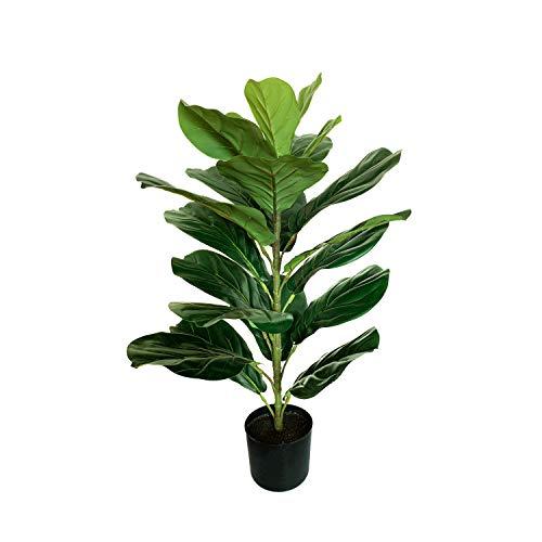 BESAMENATURE 30' Little Artificial Fiddle Leaf Fig Tree/Faux Ficus Lyrata for Home Office Decoration
