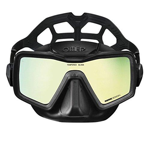 OMER Unisex-Adult Apnea Monolens Mirror Mask Black