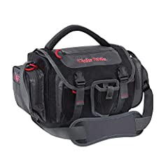Soft-sided fishing bag with 20.8-liter capacity and versatile storage options; nonslip, compression-molded bottom keeps bag from sagging Roomy design holds up to four large tackle boxes (10.2 x 6.6 x 1.6 inches; included) Padded shoulder strap and me...