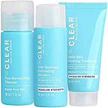 Paula's Choice CLEAR Regular Strength Acne Travel Kit, 2% Salicylic Acid & 2.5% Benzoyl Peroxide for Acne, Redness Relief, Two Week Trial Size
