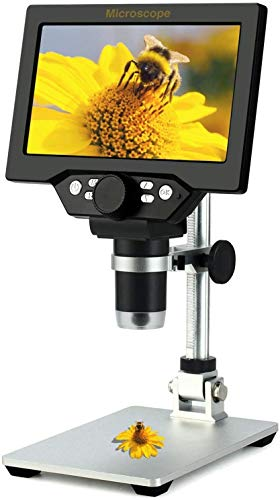 LCD Digital Microscope,4.3 Inch 1080P 10 Megapixels,1-1000X Magnification Zoom Wireless USB Stereo Microscope Camera,10MP Camera Video Recorder with HD Screen.