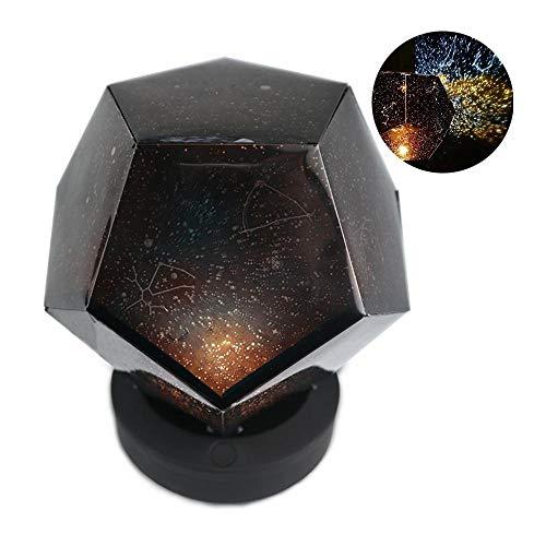 Pawaca Lámpara de proyección de Cielo Estrellado Recargable por USB, lámpara de Galaxia de 3 Modos para Adultos y niños, decoración de Dormitorio de bebé