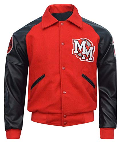 TJF MJ Red and Black Mickey Mouse Letterman Jacket